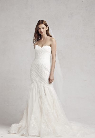 Fit And Flare Wedding Dress by Bliss by Monique Lhuillier
