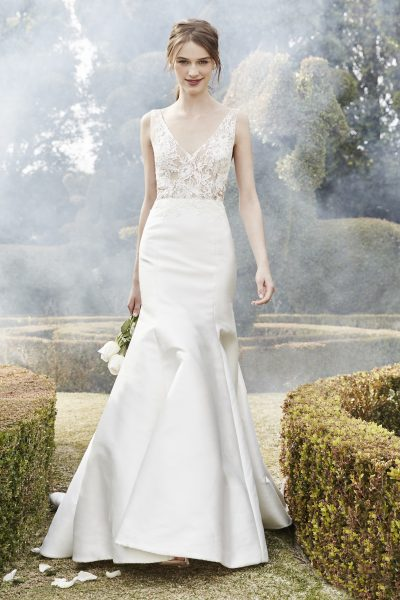 Sleek Fit And Flare Wedding Dress By Bliss Monique Lhuillier Image 1