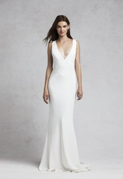 Fitted Sheath Wedding Dress by Bliss by Monique Lhuillier