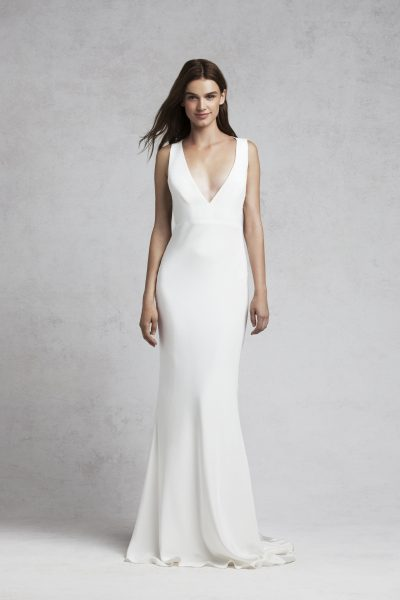 Fitted Sheath Wedding Dress by Bliss by Monique Lhuillier - Image 1