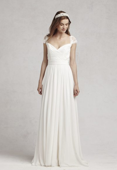 Enchanting Sheath Wedding Dress by Bliss by Monique Lhuillier