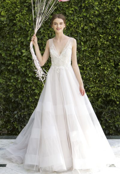 Romantic A-line Wedding Dress by Bliss by Monique Lhuillier