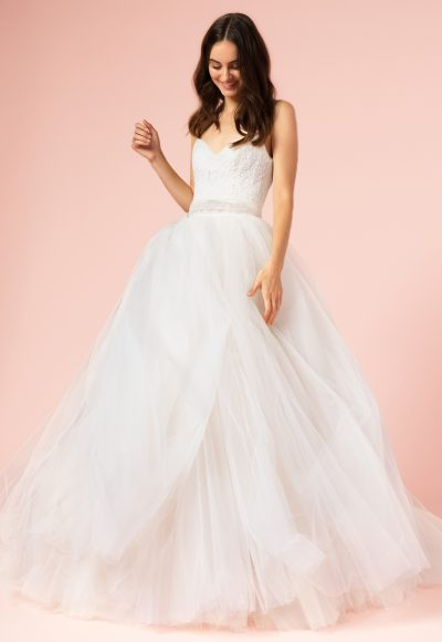 Romantic Ball Gown Wedding Dress by Bliss by Monique Lhuillier