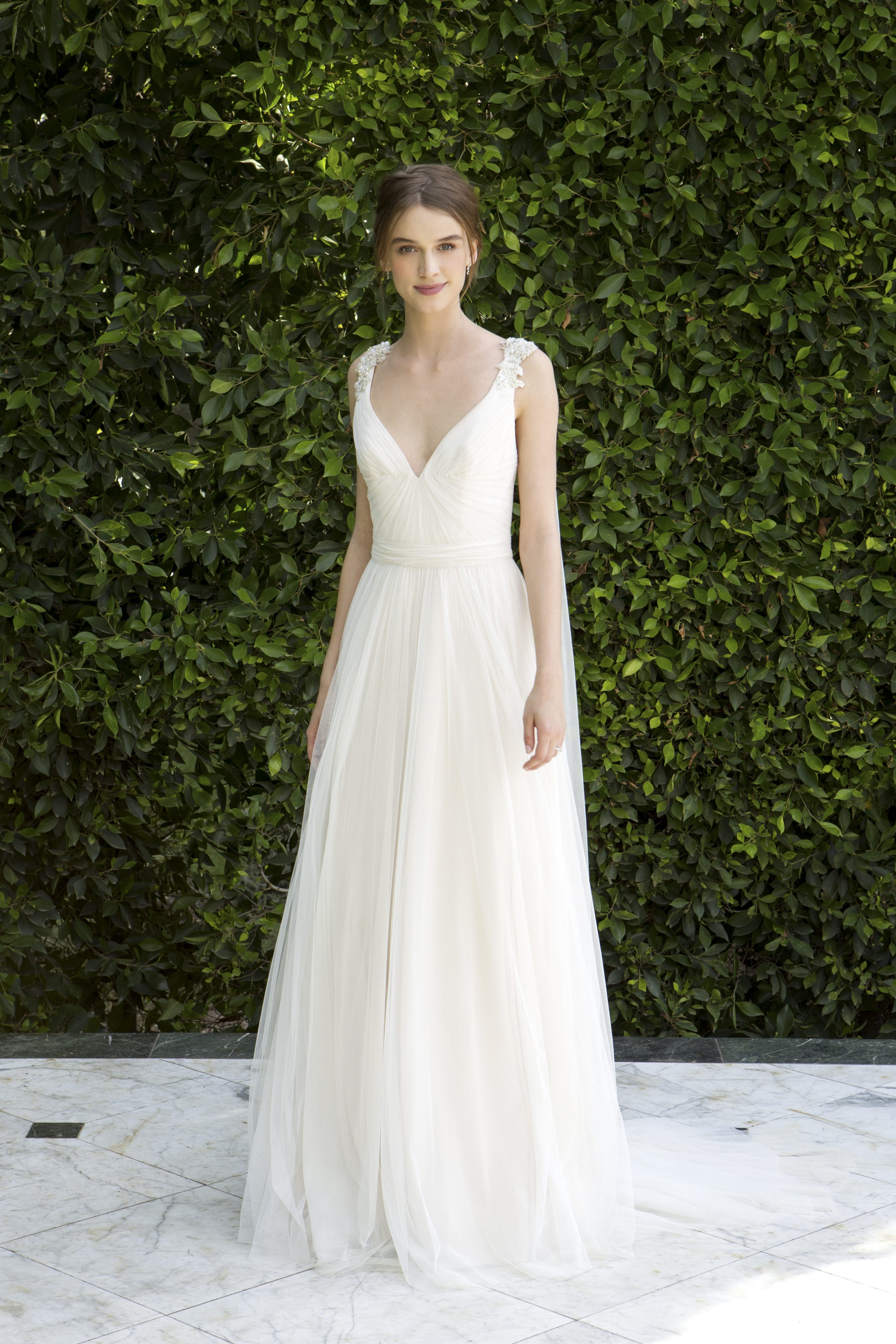 Simple Sheath Wedding Dress   Kleinfeld Bridal