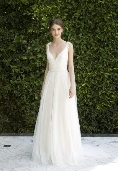 Simple Sheath Wedding Dress by Bliss by Monique Lhuillier