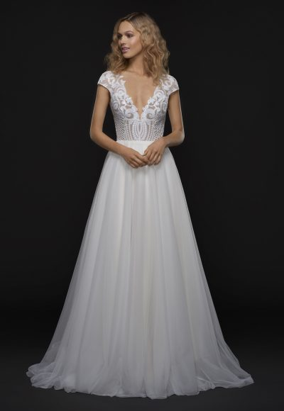 Modern A-line Wedding Dress by BLUSH by Hayley Paige