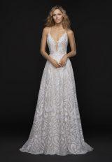 Trendy Sheath Wedding Dress by BLUSH by Hayley Paige - Image 1