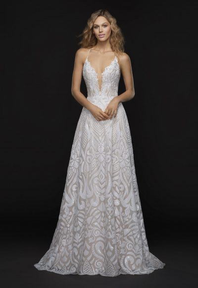 Trendy Sheath Wedding Dress by BLUSH by Hayley Paige