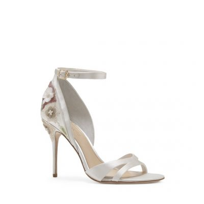 Ivory Heels With Ankle Strap by Camuto Group