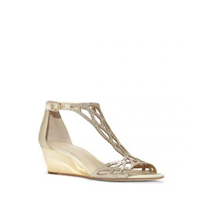 Wedge Shoe With Gold And Sparkle by Camuto Group