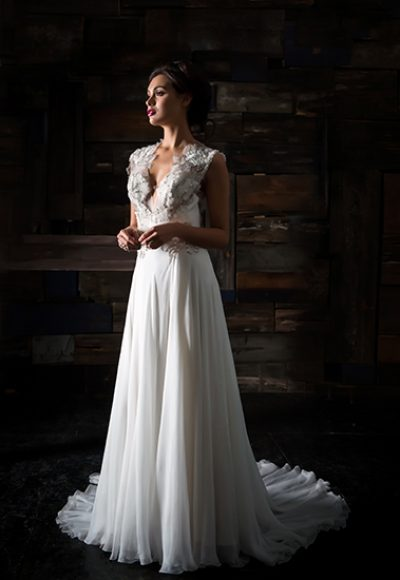 A-Line Wedding Dress by Carol Hannah