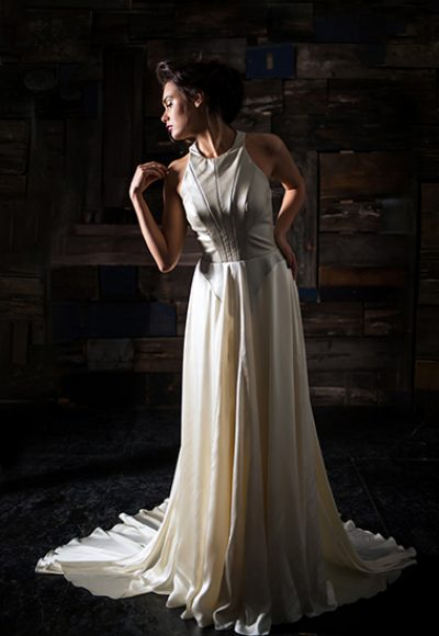 Sheath Wedding Dress by Carol Hannah