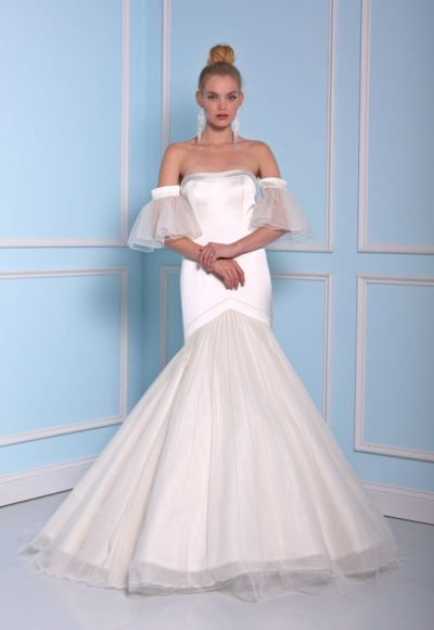 Modern Mermaid Wedding Dress by Christian Siriano