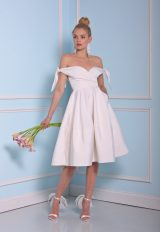 Simple Sweetheart Cocktail Length Dress by Christian Siriano - Image 1