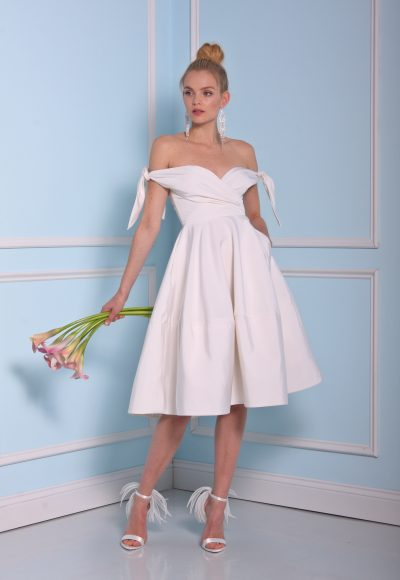 Simple Sweetheart Cocktail Length Dress by Christian Siriano