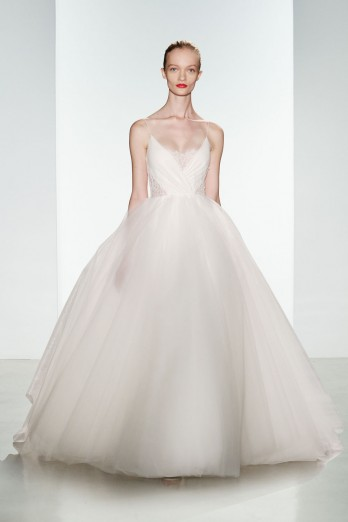 Ball Gown Wedding Dress by Christos - Image 1