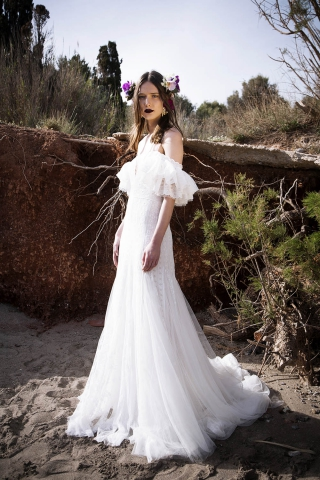 Fit And Flare Wedding Dress by Christos Costarellos - Image 1