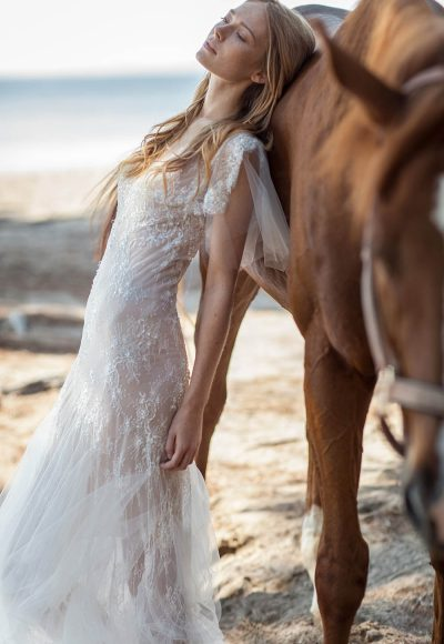 Sheath Wedding Dress by Christos Costarellos