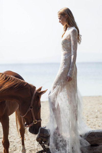 Sheath Wedding Dress by Christos Costarellos - Image 1