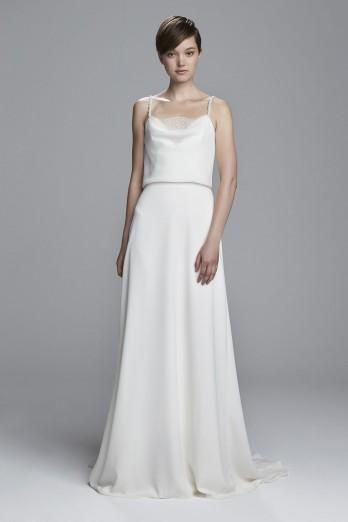 Sheath Wedding Dress by Christos - Image 1