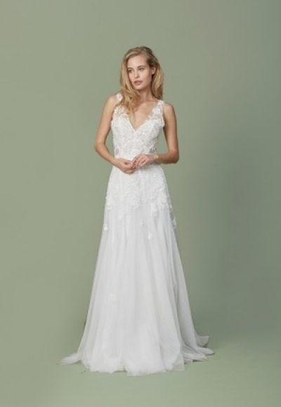 Sheath Wedding Dress by Christos