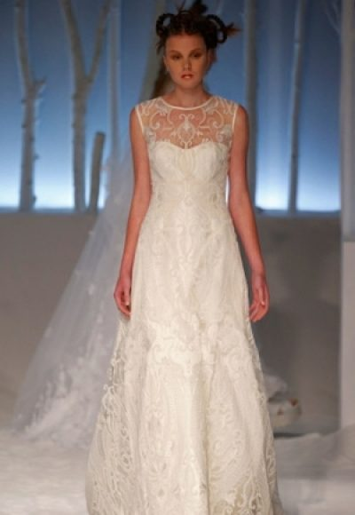 A-Line Wedding Dress by David Fielden