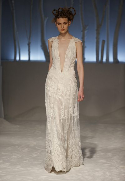 Sheath Wedding Dress by David Fielden