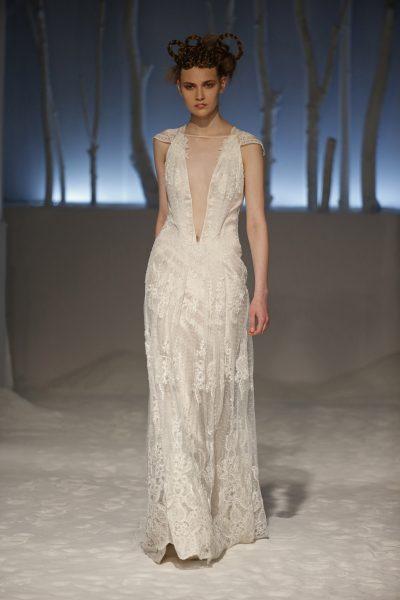 Sheath Wedding Dress by David Fielden - Image 1