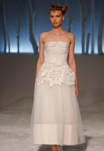 Tea Length Wedding Dress by David Fielden