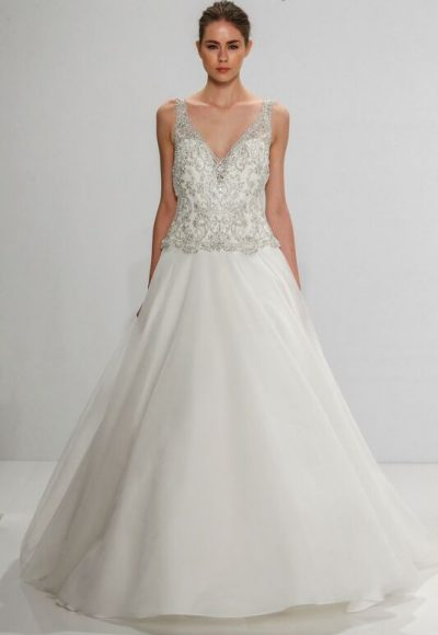 A-Line Wedding Dress by Dennis Basso