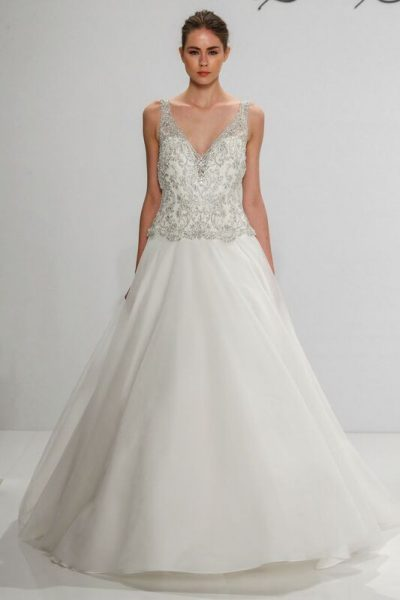 A-Line Wedding Dress by Dennis Basso - Image 1