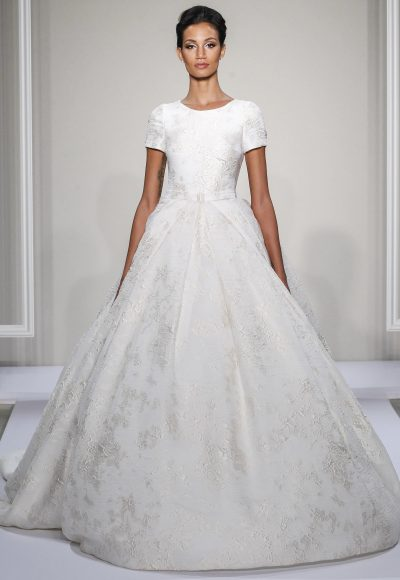 Dennis Basso Ball Gown Wedding Dress by Dennis Basso Couture