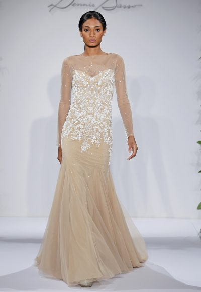 Dennis Basso Sheath Wedding Dress by Dennis Basso Couture