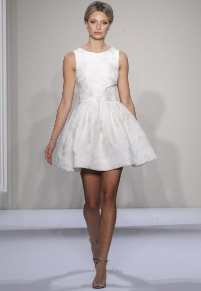 Dennis Basso Short Wedding Dress by Dennis Basso Couture