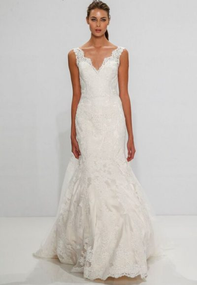 Fit And Flare Wedding Dress by Dennis Basso