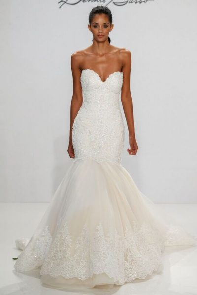 Fit And Flare Wedding Dress by Dennis Basso - Image 1