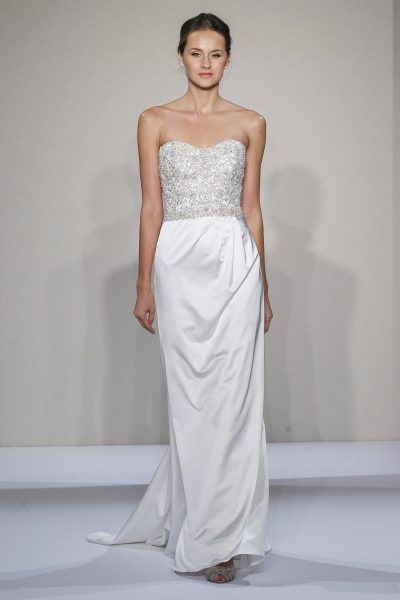 Sheath Wedding Dress by Dennis Basso - Image 1
