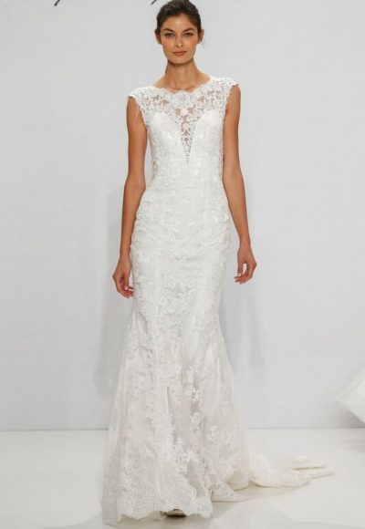 Sheath Wedding Dress by Dennis Basso