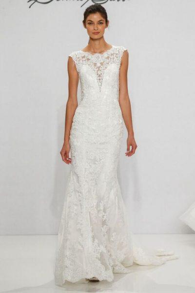 Sheath Wedding Dress by Dennis Basso - Image 1