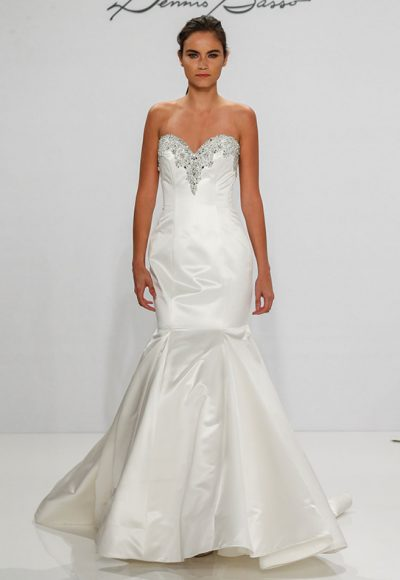 Simple Mermaid Wedding Dress by Dennis Basso