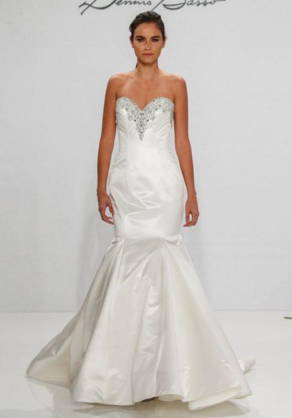 Simple Mermaid Wedding Dress By Dennis Bo Image 1