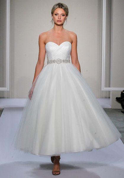 54b6d848d95e Trendy A-line Wedding Dress by Dennis Basso - Image 1