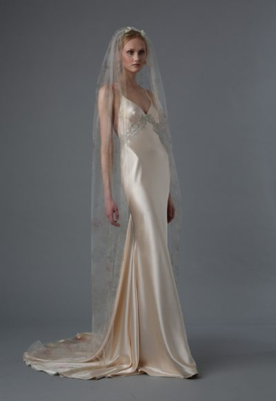 Sheath Wedding Dress by Elizabeth Fillmore