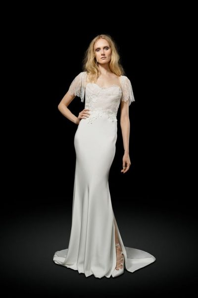 Sheath Wedding Dress by Elizabeth Fillmore - Image 1