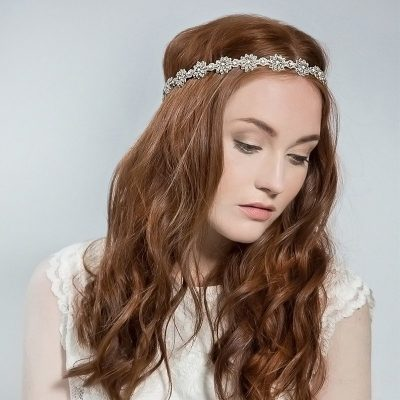 Daisy Bridal Wraparound Headpiece by Emmy London Shoes