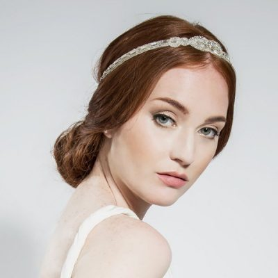 Teardrop Bridal Wraparound Halo by Emmy London Shoes