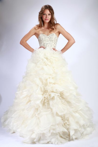 Couture A-Line Wedding Dress by Enaura Bridal - Image 1