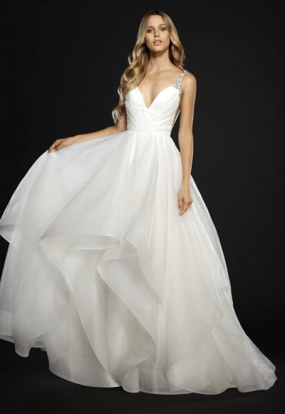 Modern Ball Gown Wedding Dress by Hayley Paige