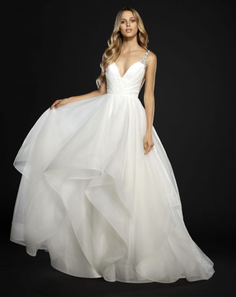 Modern Ball Gown Wedding Dress by Hayley Paige - Image 1