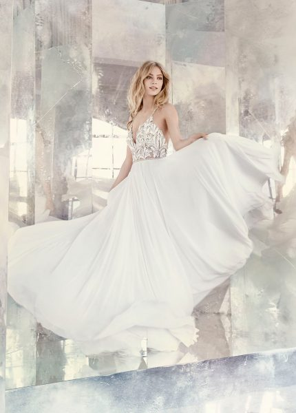 Trendy A-line Wedding Dress by Hayley Paige - Image 1